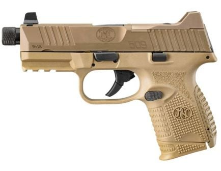 "FN 509C Tactical 9mm Pistol 24rd 4.32"", FDE"