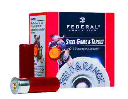 """Federal 12ga 2.75"""" 1oz #7 """"Field & Range"""" Steel Shotshell Ammunition 25rds - FRS12 7"""