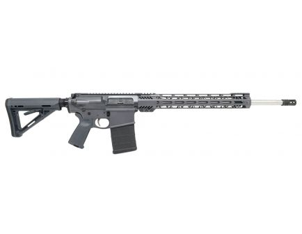"PSA Custom PA10 308 Win,  20"" Stainless Mid-Length 15"" Cross-Cut MLOK MOE Rifle w/ 2-Stage NiB FCG, Grey"