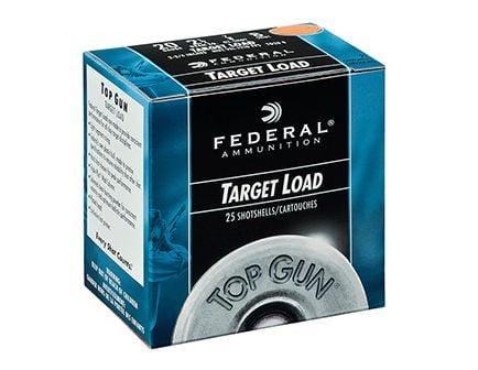 "Federal 20ga 2.75"" 2.5DE 7/8oz #7.5 Top Gun Ammunition 25rds - G20 7.5"