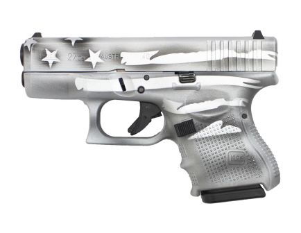 Glock G27 Gen 4 .40 S&W Pistol Sub Comp., Battleship Gray Distr Flag - PG2750204
