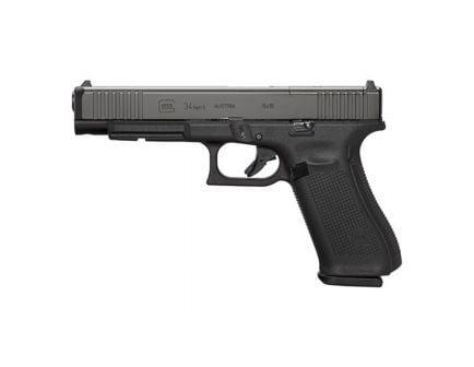 Glock 34 MOS Gen 5 9mm Pistol with Front Serrations, Black - PA343S103M
