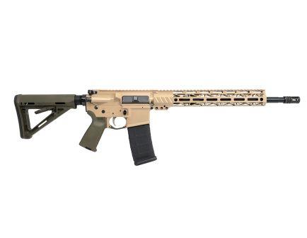 """PSA Custom .300 AAC Blackout 16"""" Pistol-Length 1/8 Nitride 13.5"""" Cross-Cut M-LOK MOE Rifle w/ 2-Stage FCG"""