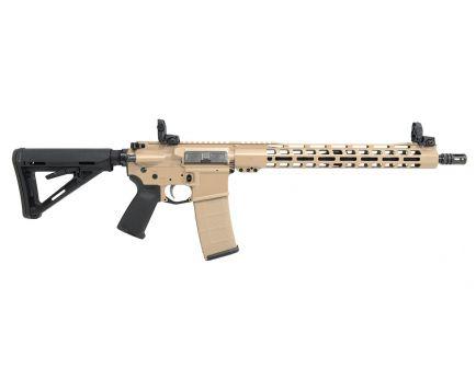 "PSA Custom 5.56 NATO 16"" Mid-Length 1:7 Nitride 15"" Slim-Line M-LOK MOE Rifle w/ MBUS Sight Set"