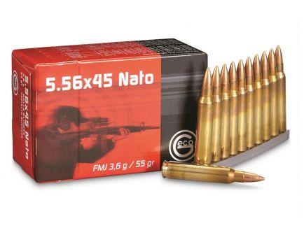 Geco Target 55 gr Full Metal Jacket 5.56 Ammo, 50/box - 278140050
