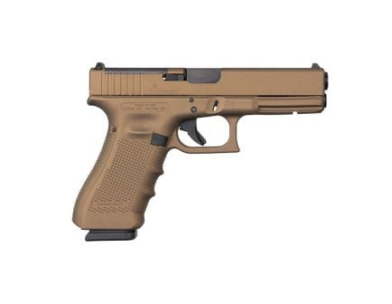 Glock 17 Gen 4 MOS 9mm Pistol, Burnt Bronze