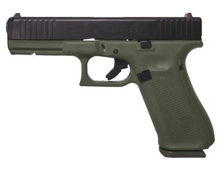 Glock 17 Gen 5 9mm Pistol, Battlefield Green