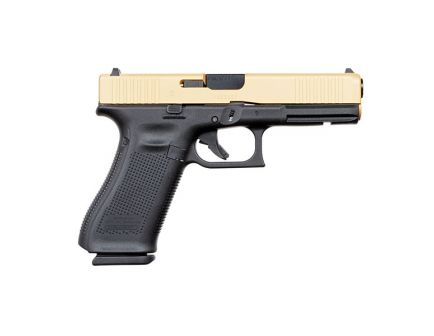 Glock 17 Gen 5 FS 9mm Pistol, Gold Slide