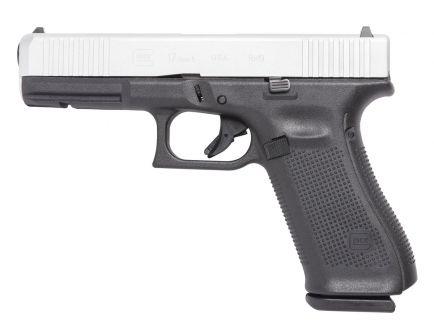 Glock 17 Gen 5 FS 9mm Pistol, Shimmering Aluminum