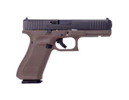 Glock 17 Gen 5 MOS FS 9mm Pistol, FDE
