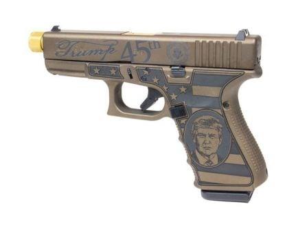 Glock 19 Gen 3 Trump 9mm Pistol, Burnt Bronze