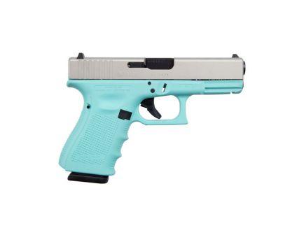 Glock 19 Gen 4 9mm Pistol, Robins Egg Blue