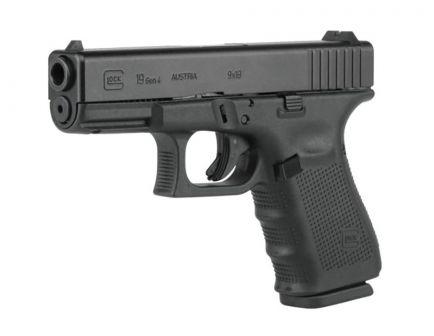Glock 19 Gen 4 US 9mm Pistol, Black
