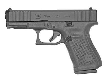 Glock 19 Gen 5 FS 9mm Pistol, Black