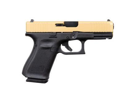 Glock 19 Gen 5 FS 9mm Pistol For Sale, Gold Slide
