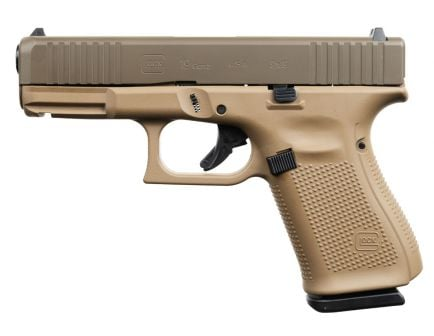 Glock 19 Gen 5 FS 9mm Pistol, Patriot Brown/DDE