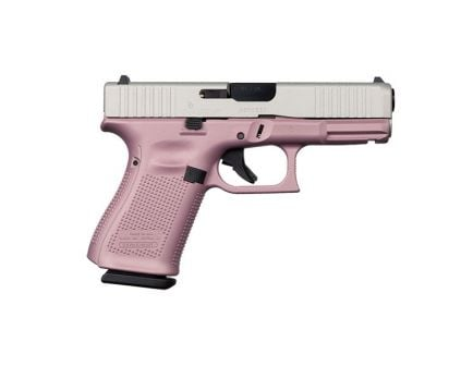 Glock 19 Gen 5 FS 9mm Pistol, Pink/Stainless