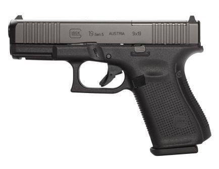Glock 19 Gen 5 MOS FS 10 Round 9mm Pistol | Black | PSA