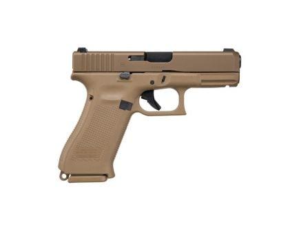 Glock 19X NS 10 Round 9mm Pistol, Flat Dark Earth