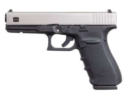 Glock 21 Gen 4 SSPVD 10 Round .45 ACP Pistol, Stainless/Black