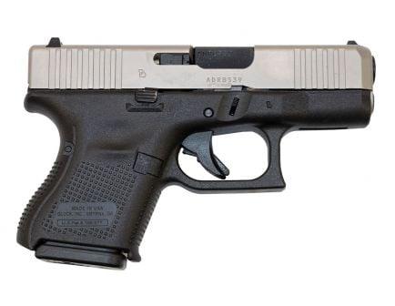 Glock 26 Gen 5 9mm Pistol, Stainless/Black