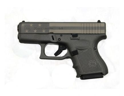 Glock 26 Gen4 9mm Pistol | Grey American Flag Cerakote