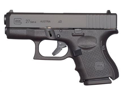 """Glock 27 Gen 4 3.42"""" .40 S&W Pistol, Black"""