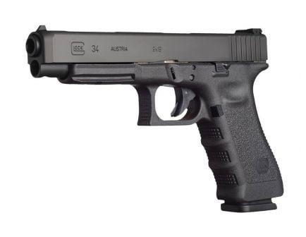 "Glock 34 Gen 3 5.3"" 9mm Pistol, Black"