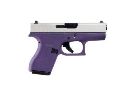Glock 42 Subcompact .380 ACP Pistol, Purple Frame SA Slide