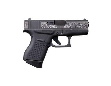 Glock 43 9mm Pistol With Engraved Slide, Black