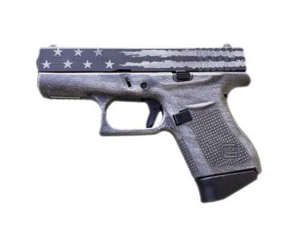 Glock 43 9mm Pistol, Distressed Flag Cerakote