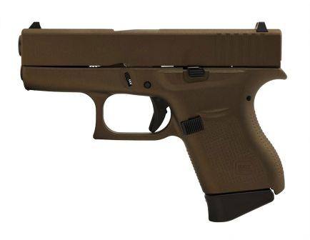 Glock 43 9mm Pistol, Midnight Bronze