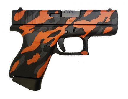 Glock 43 9mm Pistol, Orange Camo