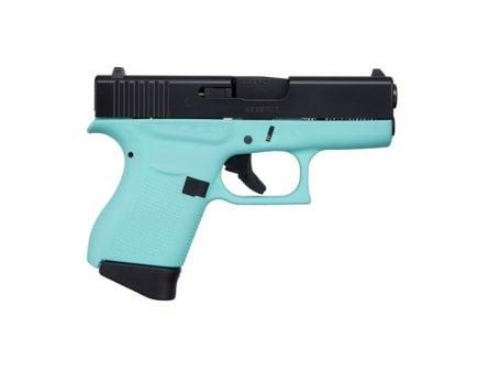 Glock 43 9mm Pistol, Robin's Egg Blue/Black