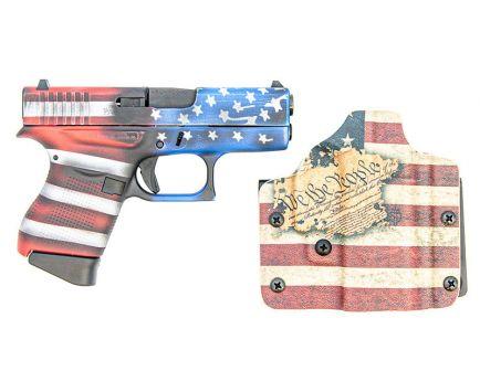 Glock 43 Constitutional Carry 9mm Pistol, Flag Cerakote