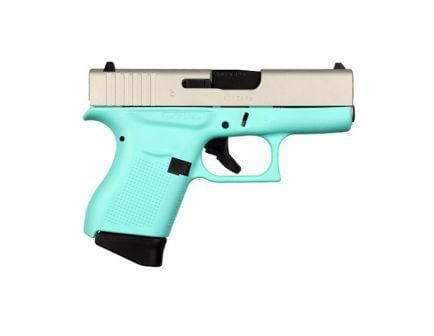 Glock 43 Subcompact 9mm Pistol, Robin's Egg Blue