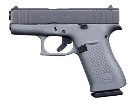 Glock 43X 9mm Pistol, Concrete Gray/Smoke
