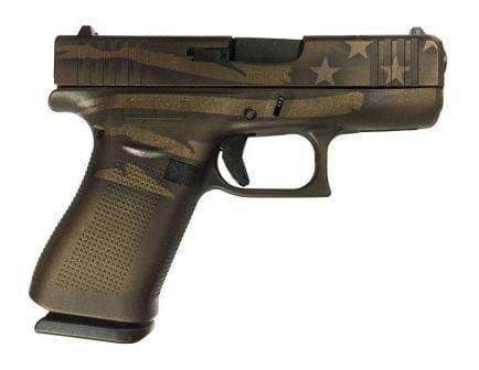 Glock 43X 9mm Pistol, Midnight Bronze Flag