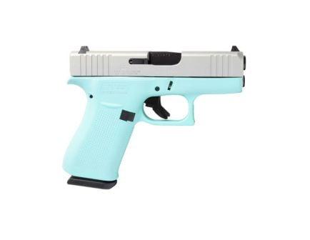 Glock 43X 9mm Pistol, Robin's Egg Blue