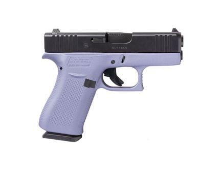 Glock 43X FS 9mm Pistol For Sale, Crushed Orchid/Black