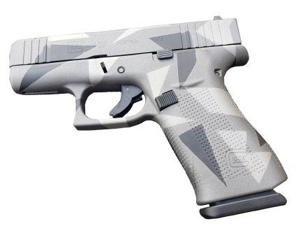 Glock 43X FS 9mm Pistol, Gray Splinter
