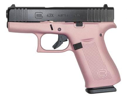 Glock 43X FS 9mm Pistol, Pink/Black
