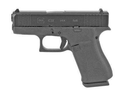 Glock 43X FS Slimline 9mm Pistol, Black