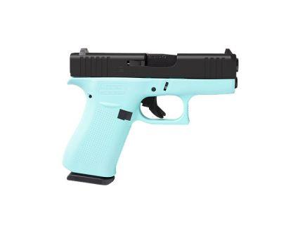 Glock 43X Slimline 9mm Pistol, Robin's Egg Blue