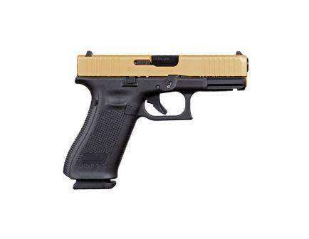 Glock 45 9mm Pistol, Gold Slide