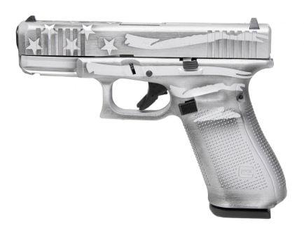 Glock 45 Gen 5 FS 9mm Pistol, Battleship Gray Distressed Flag