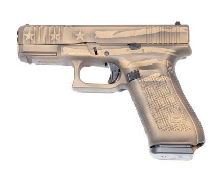 Glock 45 Gen 5 FS 9mm Pistol, Battleworn Flag