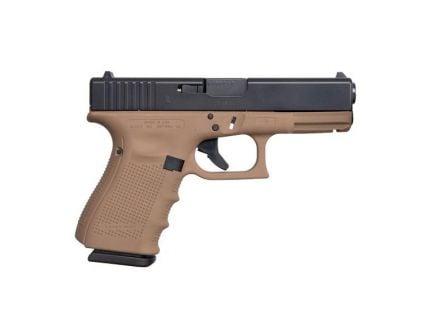 Glock G19 Gen4 Compact 9x19mm Pistol, Faded Dark Earth - ACG-00839