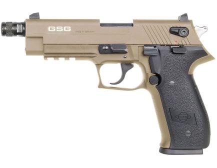 "GSG Firefly .22LR 4.9"" Barrel Flat Dark Earth Pistol with Threaded Barrel - GERG2210TFFT"