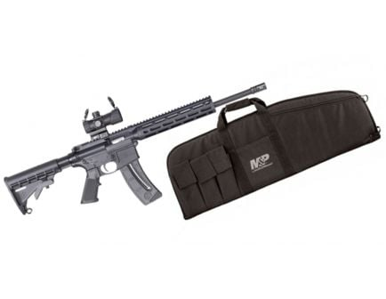 S&W M&P 15-22 Sport .22LR Rifle w/ M&P Red/Green Dot Optic & Rifle Case